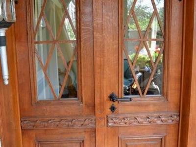 aufgearbeitete Haustür aus Eiche