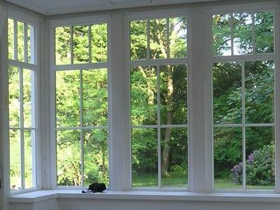 Holzfenster mit Sprossen